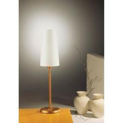 Holtkotter Incandescent Table Lamp, Antique Brass/Narrow Whi