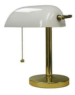 Ore International KT-188WH Bankers Lamp, 12.5-Inch Height, W