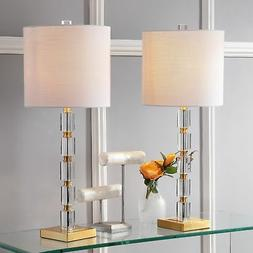 "JONATHAN Y JYL5001A-SET2 Claire 28.5"" Crystal Table Lamp Cle"