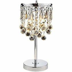 KU300144 Elegant Modern Chrome Crystal Chandelier For Bedroo