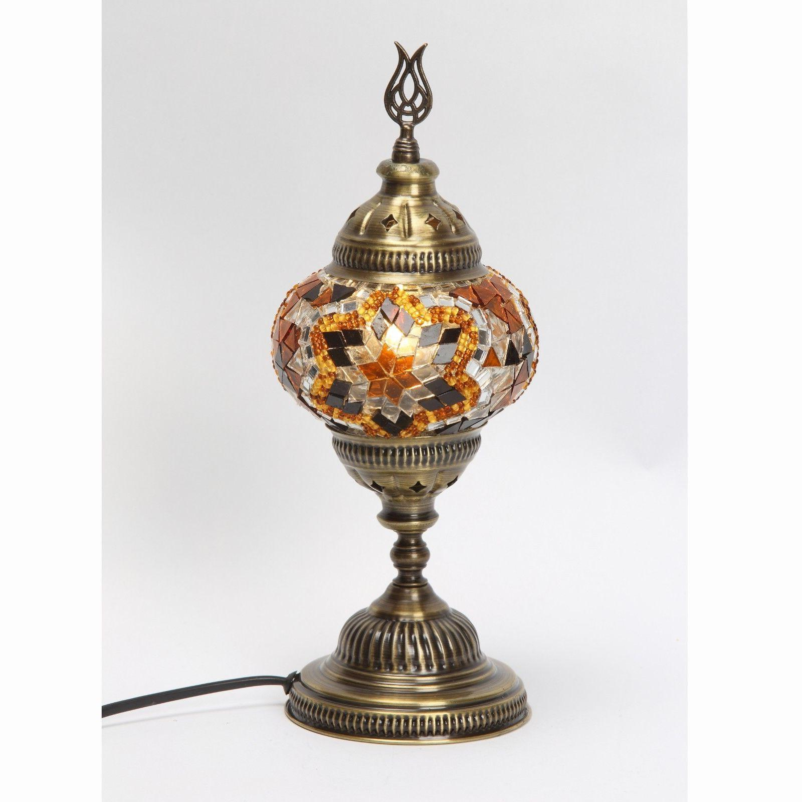100% Handmade Turkish Ottoman Mosaic Table Lamp