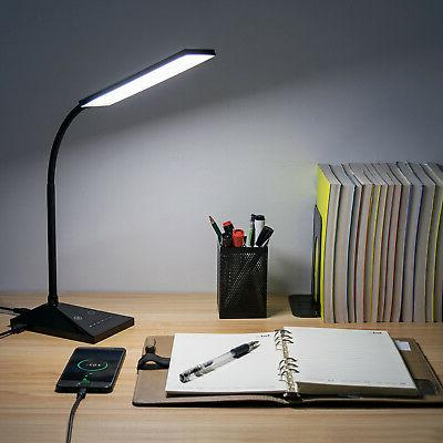 12W 7 LED Touch Sensor Flexible Dimmable Desk Table Lamp Rea