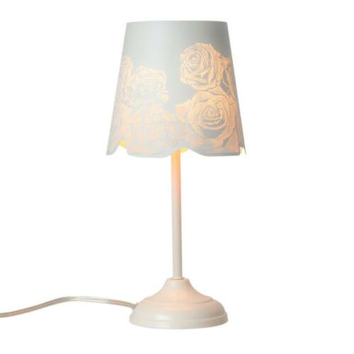 """15"""" Metal Bedside Table Lamps Night Rose Shade"""