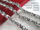 """16""""-36"""" Mens Womens Stainless Steel Diamond Cut Rope Chains"""