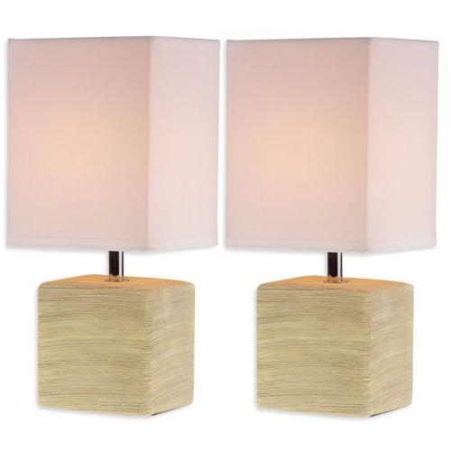 2 Pack Table Lamp Bedside Desk Lamp Night Light Nightstand f