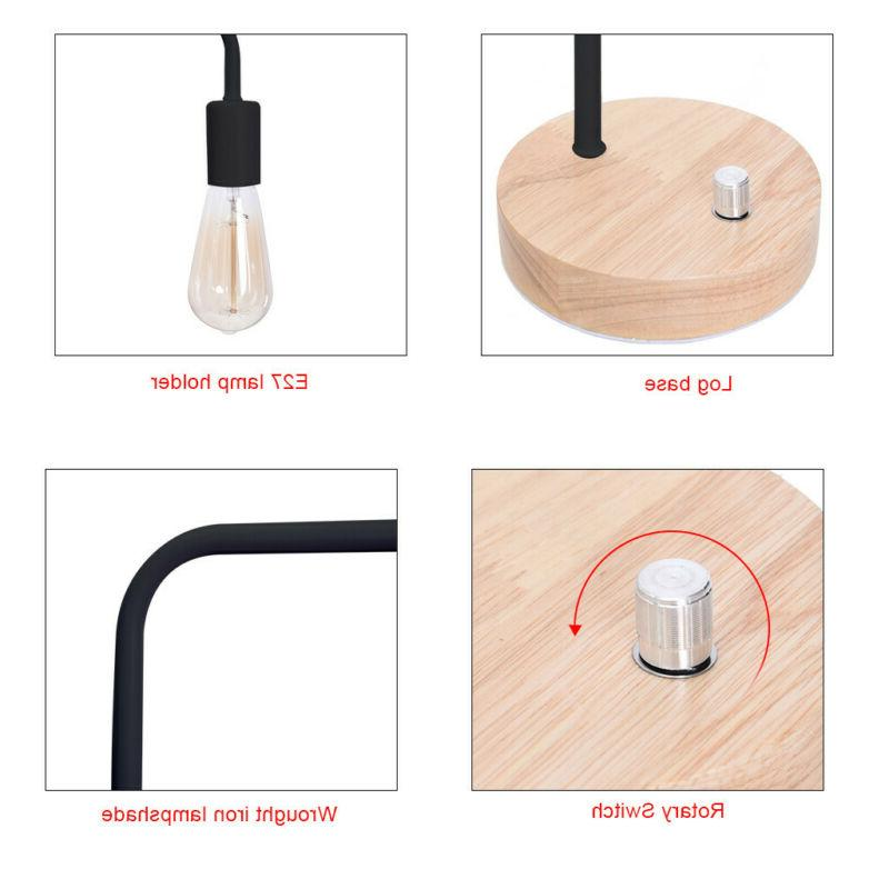 HAITRAL Industrial Table Lamp for Office, Living