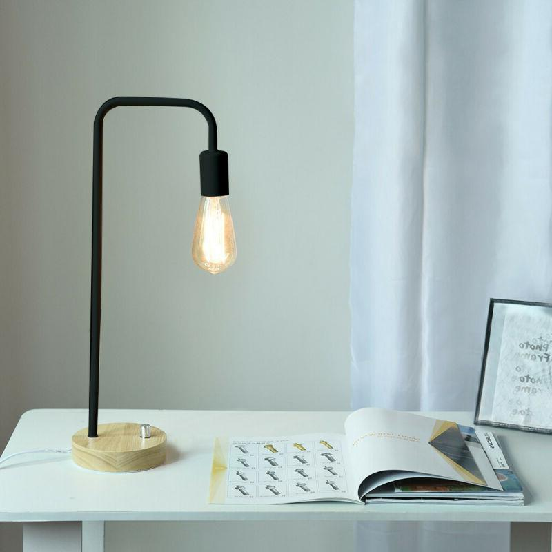 haitral desk lamp wooden industrial table lamp