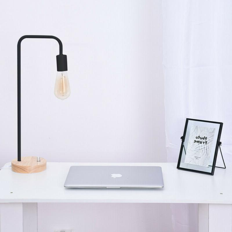 HAITRAL Wooden Industrial Lamp Office,