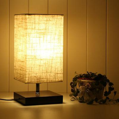 LED Desk Lamps with Flaxen Shade for Bedroom