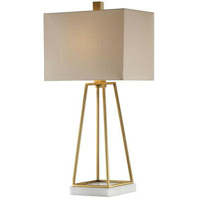 Uttermost 27876-1 Mackean Table Lamps Metallic Gold and Whit