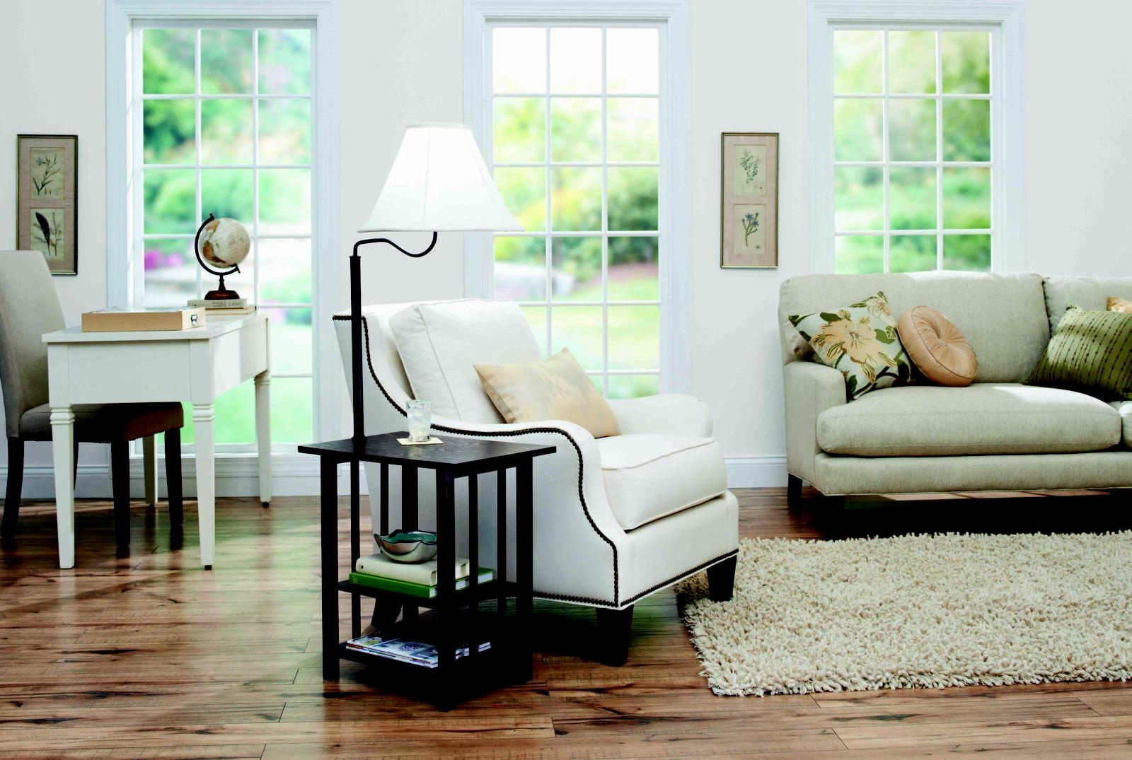 3-Rack End Table Lamp Espresso Decor And Gardens