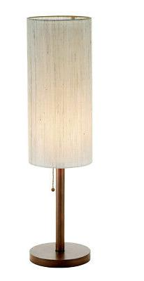 Adesso 3341 Hudson Transitional Floor Lamp - Dark Maple
