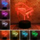 3D Piano Optical illusion Night Light LED Lamp Bedside Table
