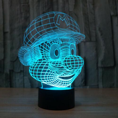 3D Super Night Touch Table Desk Lamp
