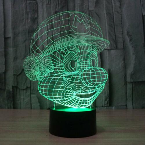 3D Mario LED Touch Lamp Xmas Gift