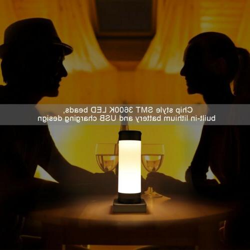 USB Night Touch Dimmer Control Table Desk Lamp Reading