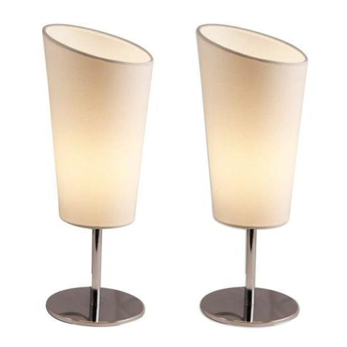 Lightaccents 4061TL-2PK-20 Bedroom Side Metal Table Lamps ,