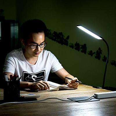 5W Clip-On Lamp 48 LEDS Flexible Reading light Dimmable Table Lamps