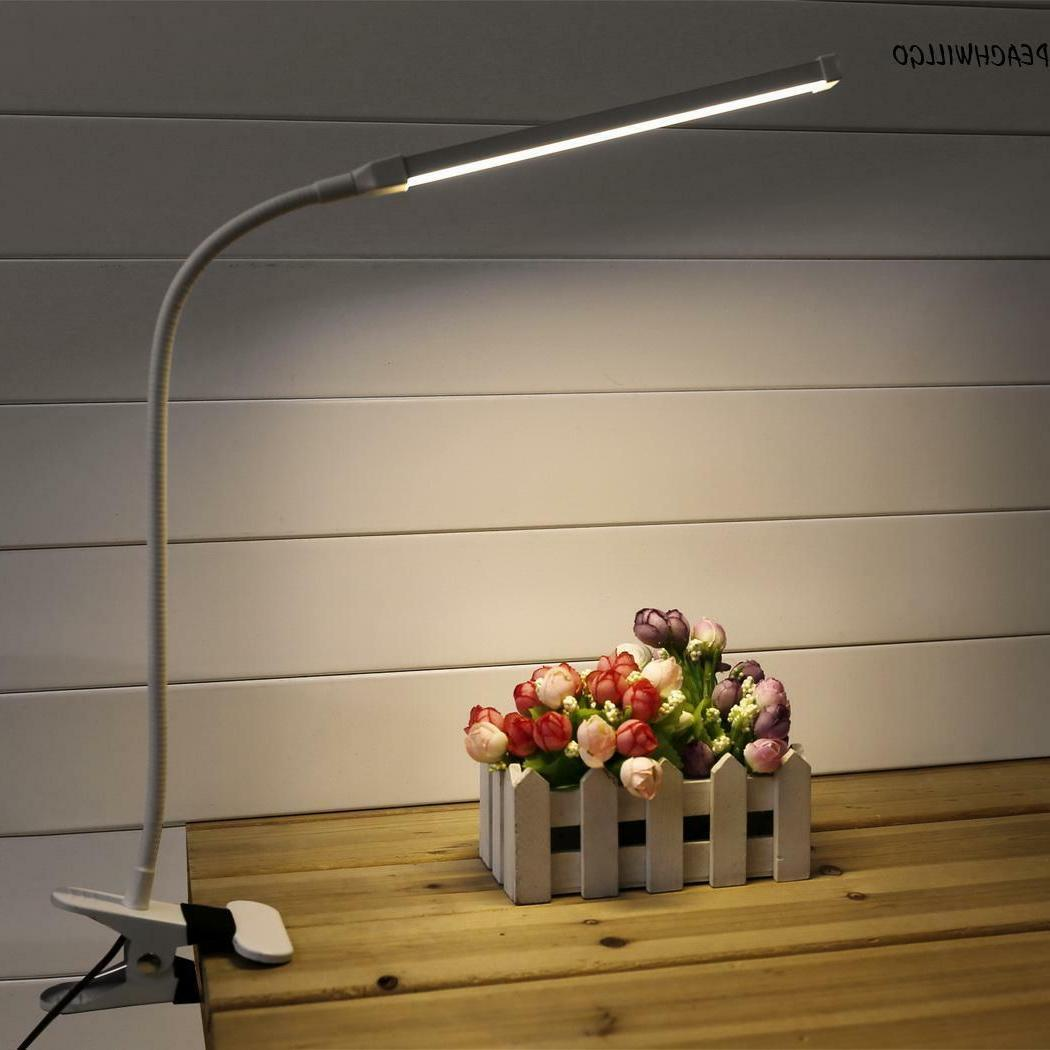 6W Clip-On 24 LED Table Lamp Reading Study Desk No Battery w