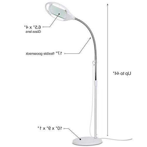 Brightech LightView Pro Magnifying Glass - Light For & Adjustable Gooseneck Standing -