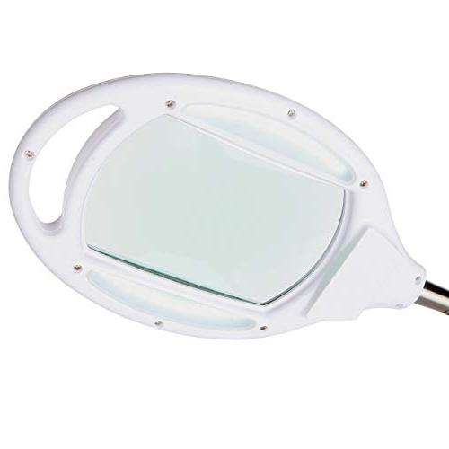 Magnifying Glass Floor - Magnifier With Light & Crafts Adjustable - White