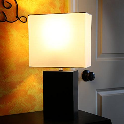 Brightech - Mode Contemporary Table Wood - Light for Nightstands, Professional and More