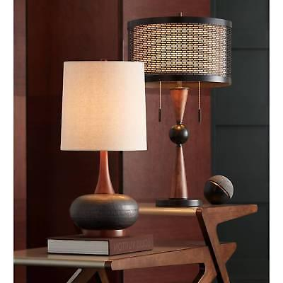 Mid Lamp Hammered Wood for Living