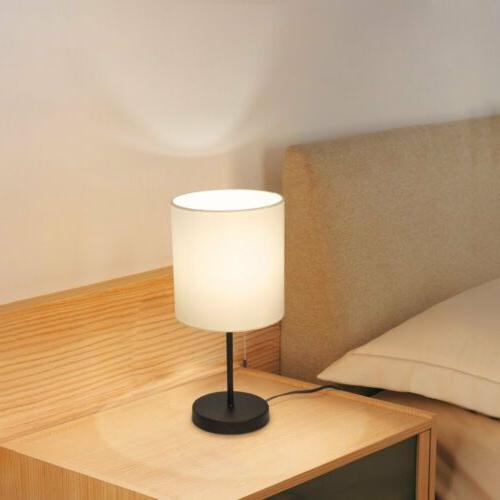 HAITRAL Table Lamp Metal base Shade Night light Bedroom,Dorm