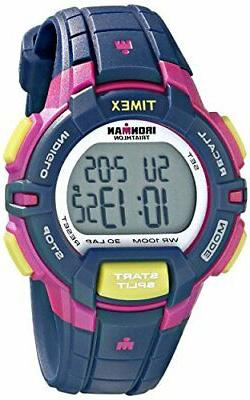 "Timex T5K813,  Women's ""Ironman"" 30-Lap  Blue Strap Watch, A"