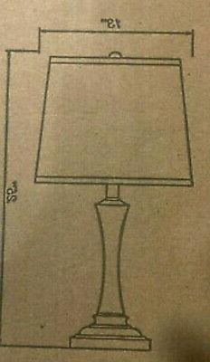 Kenroy Home Acacia 26 in. White Table Lamp with White Fabric