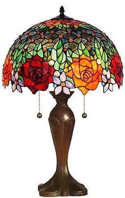 Amora Lighting Amora Lighting AM1534TL16 Tiffany Style Roses
