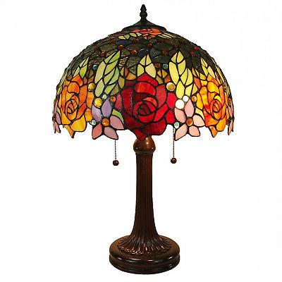 Amora Lighting AM1534TL16B Tiffany Style Roses Table Lamp 23
