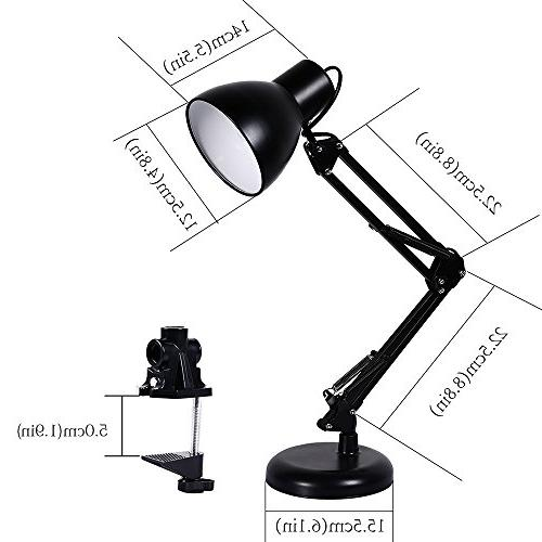Architect Table Base Extra Mount, lamp for Bedroom Study, Black