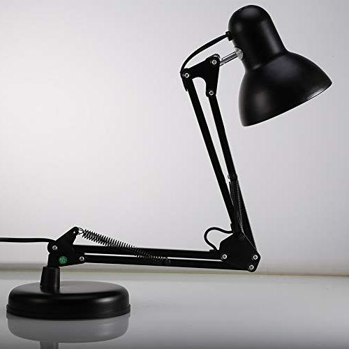 Architect Table Arm Desk Base Extra Mount, Metal lamp for Bedroom Study,