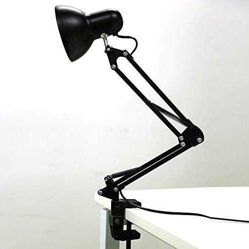Architect Table Swing Arm Heavy Base with C-clamp Mount, Swing-Arm lamp for Studio/Office Bedroom Study,
