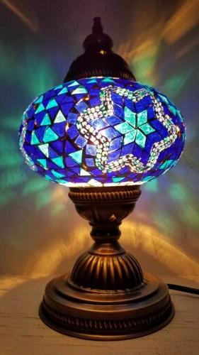 authentic turkish moroccan glass mosaic table lamp