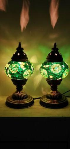 Authentic Turkish Moroccan Glass Sultan Table Lamp Tiffany S