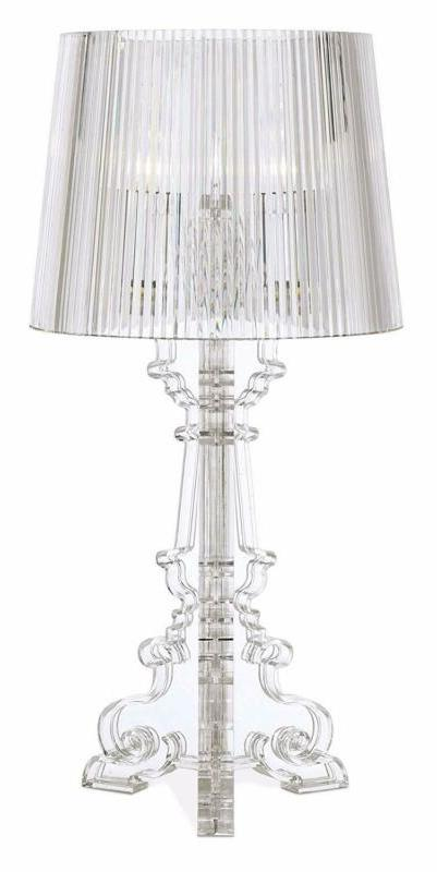 Baroque Accent Table Clear for Bedro