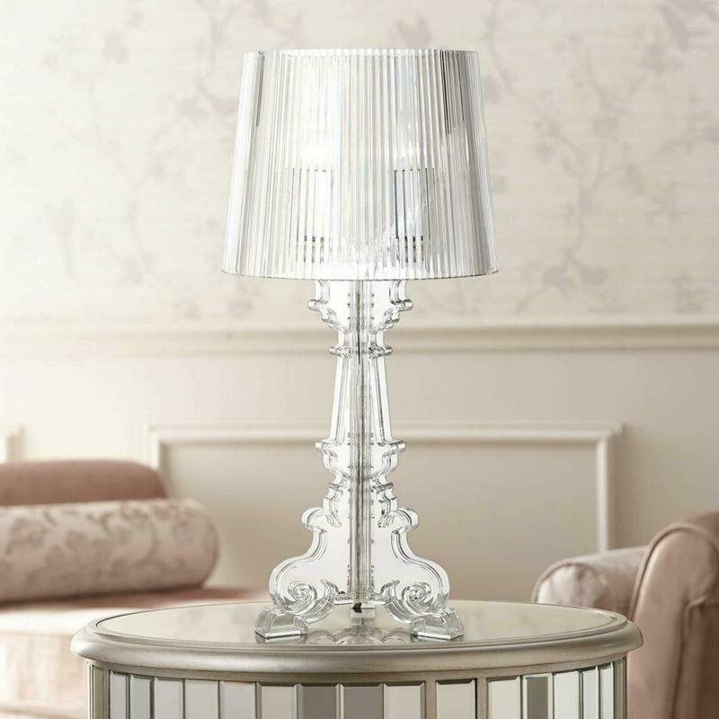 Baroque Table Clear See for Living Room Bedro