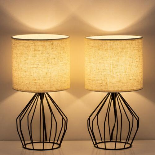 bedside table lamp nightstand lamps pair modern