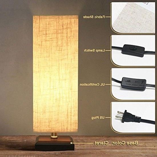 ZEEFO Lamp, Retro Solid Wood Table Lamps Shade N