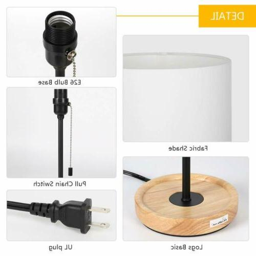 HAITRAL Bedside Table Wooden Switch Lamps Gifts Mum