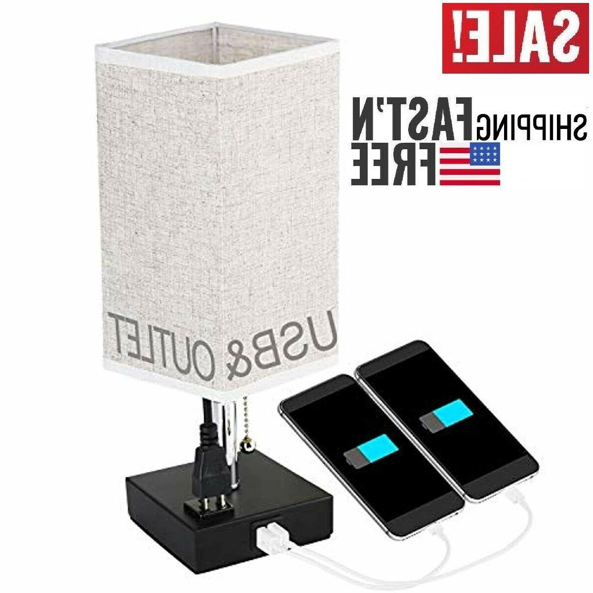 bedside table lamps with usb charging ports