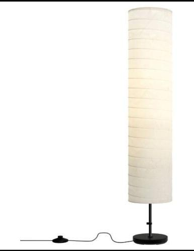 BRAND NEW IKEA HOLMO FLOOR LAMP LIGHT WHITE RICE PAPER SHADE