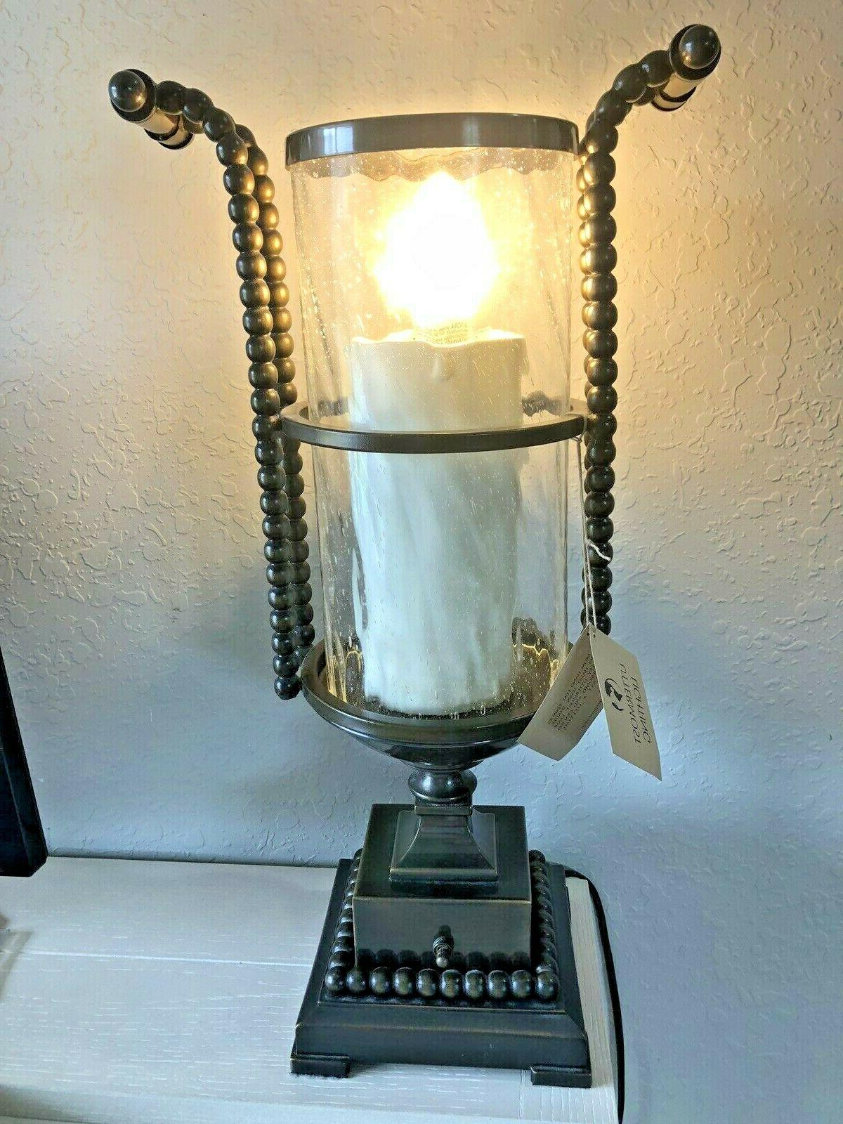 Uttermost Bronze with Glass Table Lamp