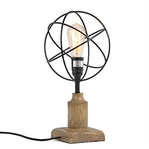 cage desk lamp sphere table
