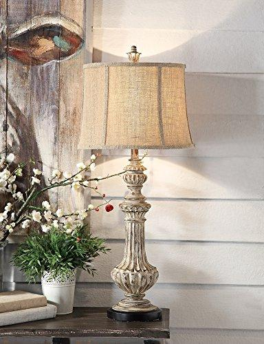 cameron antique wood table lamp