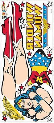 Classic Wonder Woman Peel & Stick Giant Wall Decals