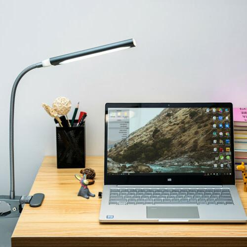 USB 5W Table Reading Book Lamp 48 LED Light Dimmable Clip-On