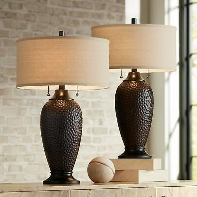 cody oiled bronze table lamp set of